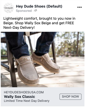 Facebook Ads Next Day Delivery