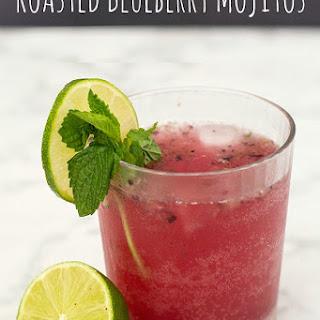 Roasted Blueberry Mojitos