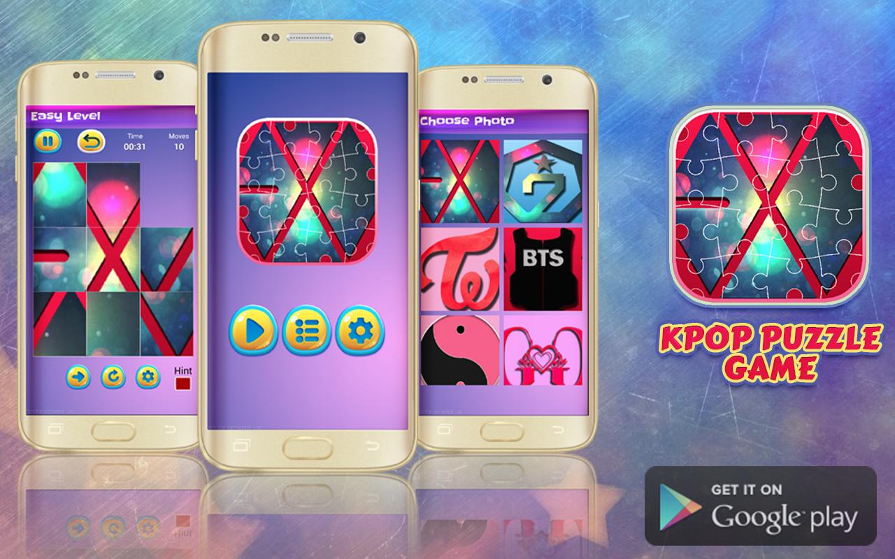 Google themes kpop - Kpop Puzzle Game 2017 Screenshot