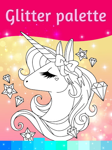 Unicorn Coloring Pages with Animation Effects - screenshot