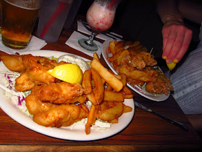 Photo: Amazing fish and chips (with beer and cocktails!) atQuinn's Almost-By-The-Sea.