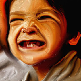 smile by Nadia Puteri Meutia - Painting All Painting