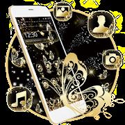 Golden Black Butterfly Theme