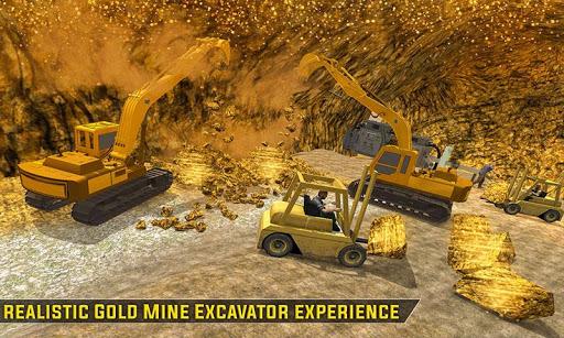 Gold Excavator Crane Driver 3D screenshot 3