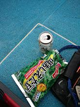 Photo: ビールと枝豆。 これを食してるのは?