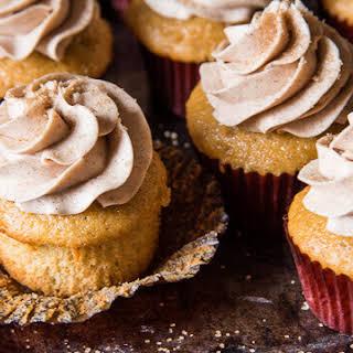 Cinnamon Buttercream Cupcakes.