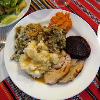 Roast Turkey with Herbed Stuffing and Pan Gravy Recipe