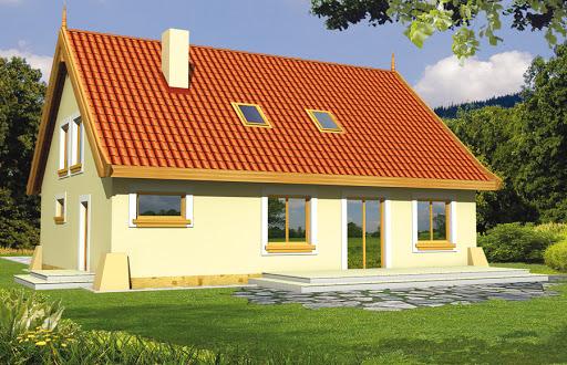 projekt Tymek wersja D z podwójnym garażem i ścianką kolankową