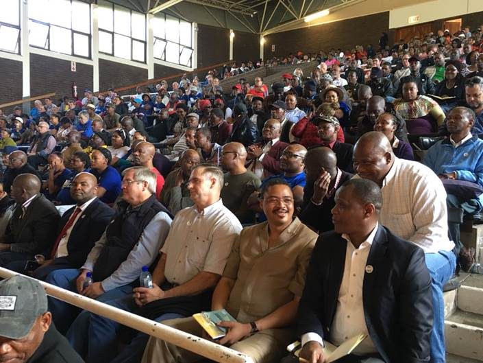 Hundreds of people attended the land hearings in East London at the Orient Theatre on July 26, 2018.