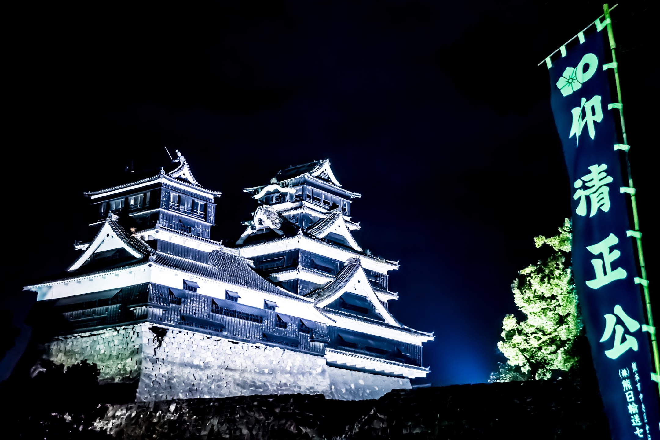 Kumamoto Castle Kato Shrine light-up2