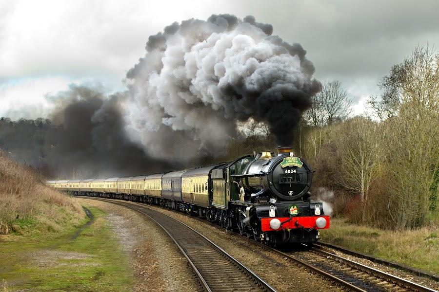 King Edward  by Dave Hayward - Transportation Trains ( carriage, tracks, working, king edward, steam )