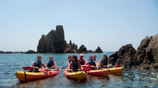 Piragüismo y snorkel