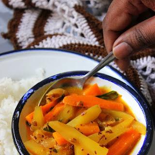 Pacha Manga Curry - Raw mango Curry.