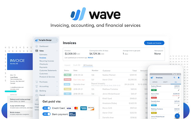 Invoice By Wave Chrome Web Store - Invoice software windows 7