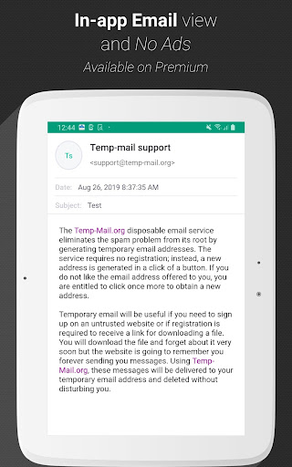 Temp Mail - Free Instant Temporary Email Address 2.11 screenshots 8