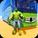 Superhero Big Bus Stunts Drive Icon