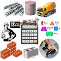 Construction Calculator (Concrete, Steel, Bricks) icon