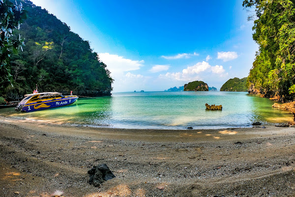 Stop at Kian Bay on the northern tip of Koh Yao Noi