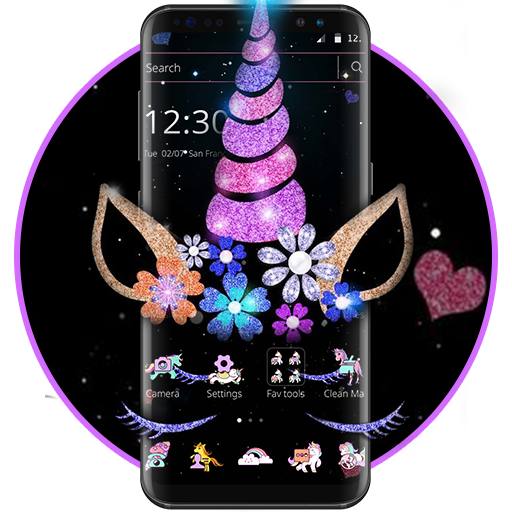 Night Star Unicorn Sparkling Theme