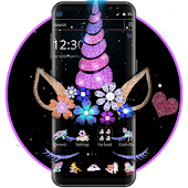 Night Star Unicorn Sparkling Theme Android APK Download Free By Abby Theme Center