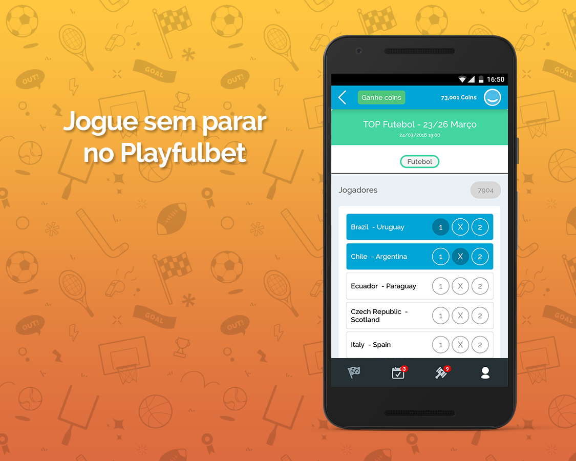 Playfulbet App: captura de tela