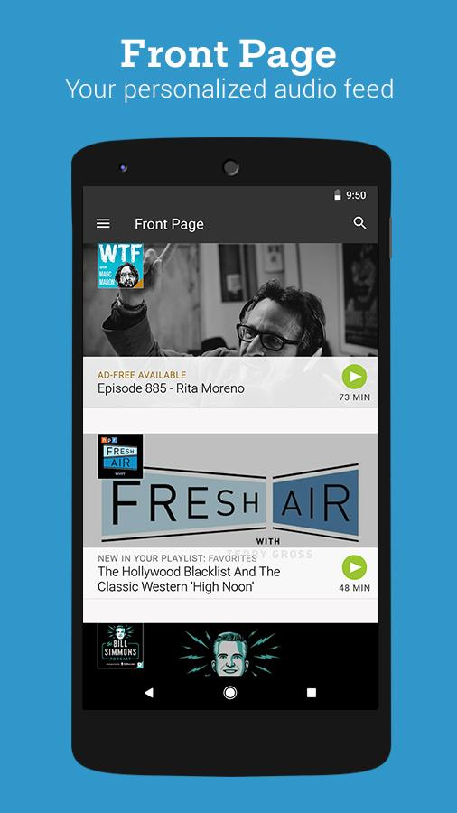 Stitcher for Podcasts- screenshot