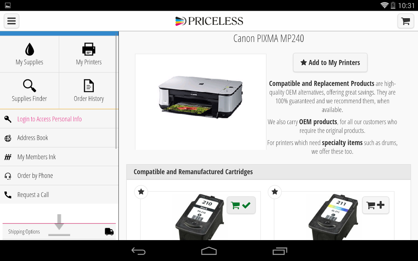 Priceless Ink & Toner- screenshot