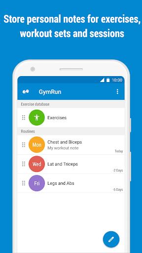 GymRun Workout Log & Fitness Tracker screenshots 8