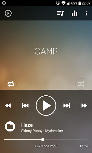 Mp3 player - Qamp  screenshots 2
