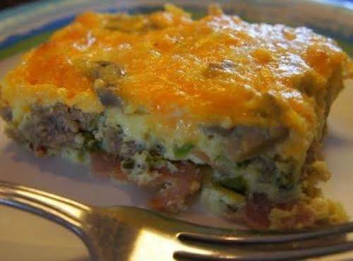 "Low Carb Breakfast Bake ""Made this while my brother was visiting with..."