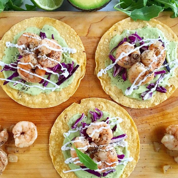 Tequila Lime Shrimp Tacos Recipe | Yummly