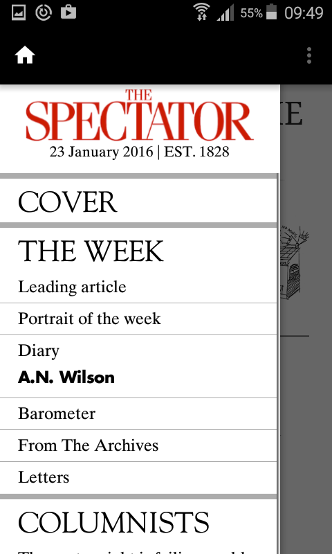 The Spectator Magazine- screenshot