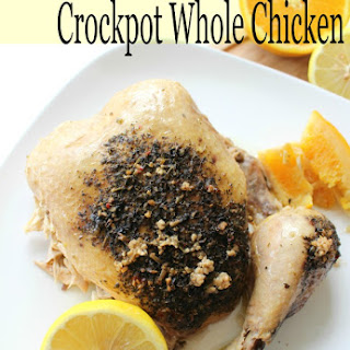 Crockpot Whole Chicken Recipe with Citrus & Herb