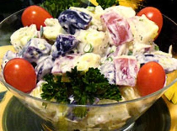 Red, White, & Blue Potato Salad Recipe