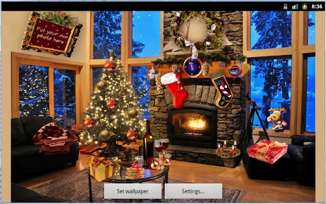 Christmas Fireplace LWP Deluxe Screenshot Image