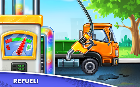 Truck games for kids – build a house, car wash 9