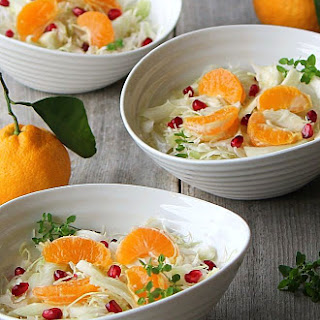Winter White Salad With Mandarin And Fennel