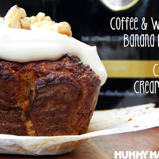 Coffee and Walnut Banana Bread with Coffee Cream Icing
