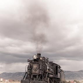 My Idea of Fairytale by Daniela Maskova - Transportation Trains ( ely, railway, travelling, nevada, #93, steam train, holidays, usa )