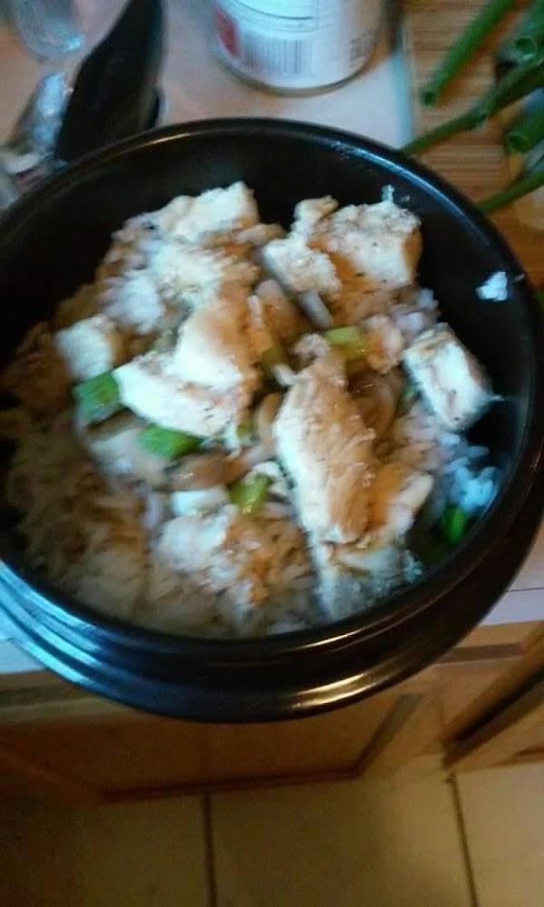 Teriyaki Chicken Mushroom Over Steamed Rice Recipe