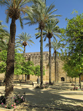 Photo: This was taken outside of the Alcázar de los Reyes Cristianos, or the fortress of the Christian monarchs. Isabella and Ferdinand lived in this fortress for seven years while reigning over Spain. Furthermore, Christopher Columbus met with them at this fortress to discuss his plans for his voyage.