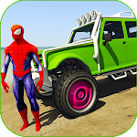 Superheroes Buggy Car Stunts 3d Icon