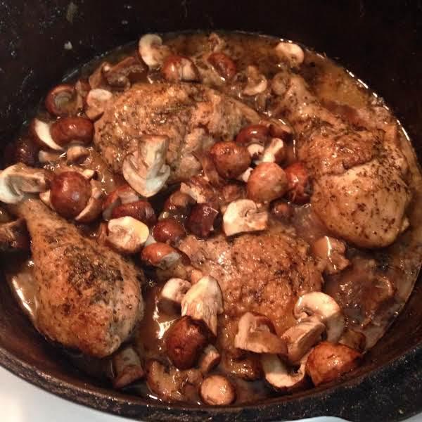 Braised Chicken Herbs De Provence Recipe
