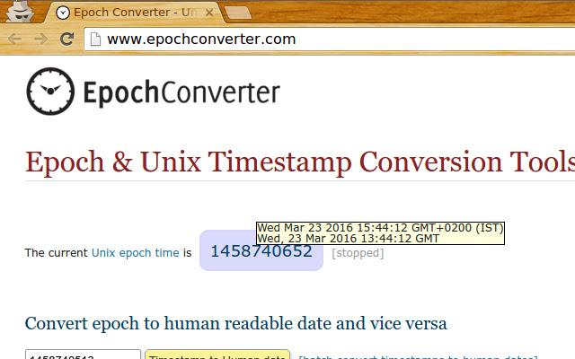 Epoch Converter Tooltip for Google Chrome™
