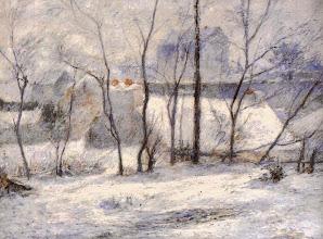 """Photo: Paul Gauguin, """"Paesaggio invernale"""" (1879)"""