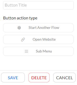 Persistent menu button types