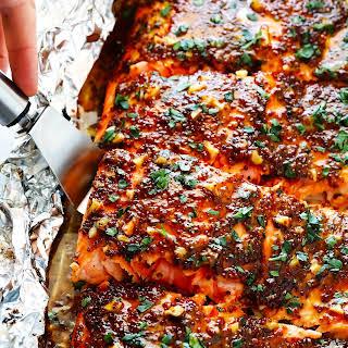 Honey Mustard Salmon In Foil.