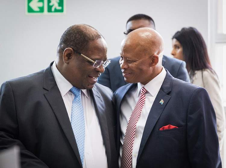 Deputy Chief Justice Raymond Zondo and Chief Justice Mogoeng Mogoeng. Picture: RAJESH JANTILAL
