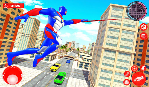 Flying Police Robot Rope Hero: Gangster Crime City apkmr screenshots 11