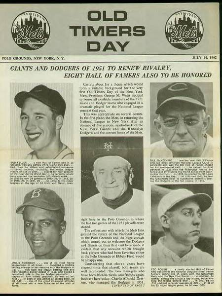 Photo: Old Timers Day 1962